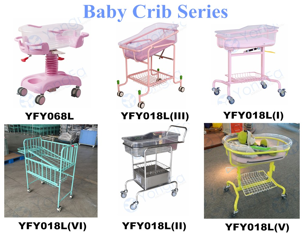 YFY018L(II) Hospital Cribs Clear Plastic Bassinet For  Baby