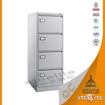 Hanging File Cabinet 4 Drawers With Individual Key Lock / 4 Layers Metal  Cabinet Box