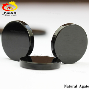factory price black onyx gem stones price natural agate slices wholesale
