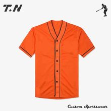 Wholesale women custom designed button up baseball shirt