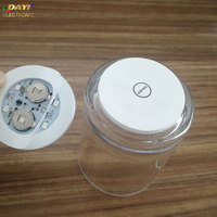 Party Supplies disposable eva paper coaster led mini bottle base light glow stickers for clear glass bottle or cup