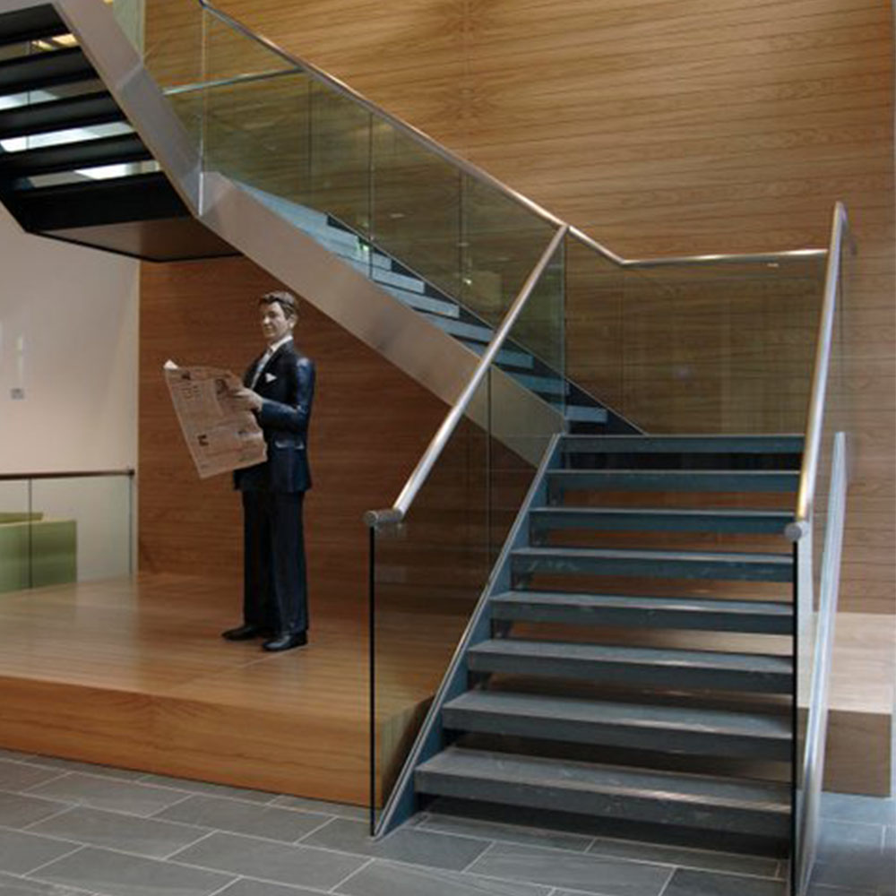 Side Mount Gl Staircase Railing