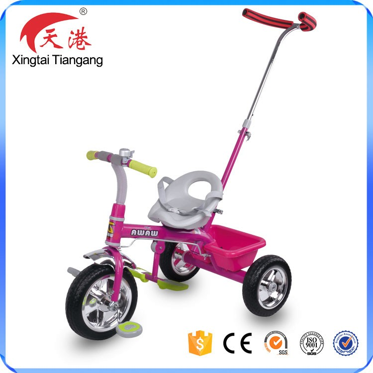 factory light weight travel system 2- in-1 baby tricycle with push handel