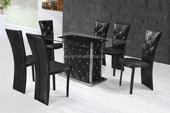 Tavolo Da Pranzo In Vetro : Ultimi disegni tavoli da pranzo in vetro nero moderno di lusso a