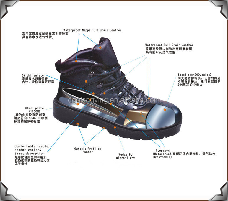 Military Boots Removable Steel Toe Caps With Impact 200j
