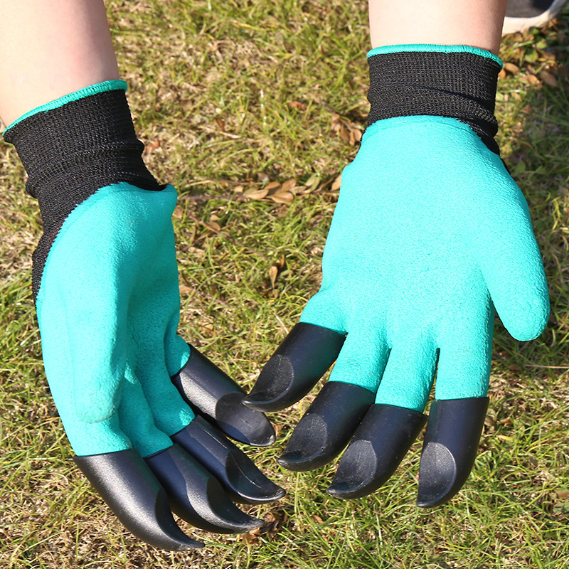 Finger Hand Protection Claw Glove Digging Planting Flowering Garden Claw Gloves Cheap Cost Genie Design Glove with 4 Claws