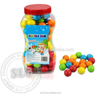 9g Colorful round big ball sweet bubble gum in jar football passion everyday bubble gum