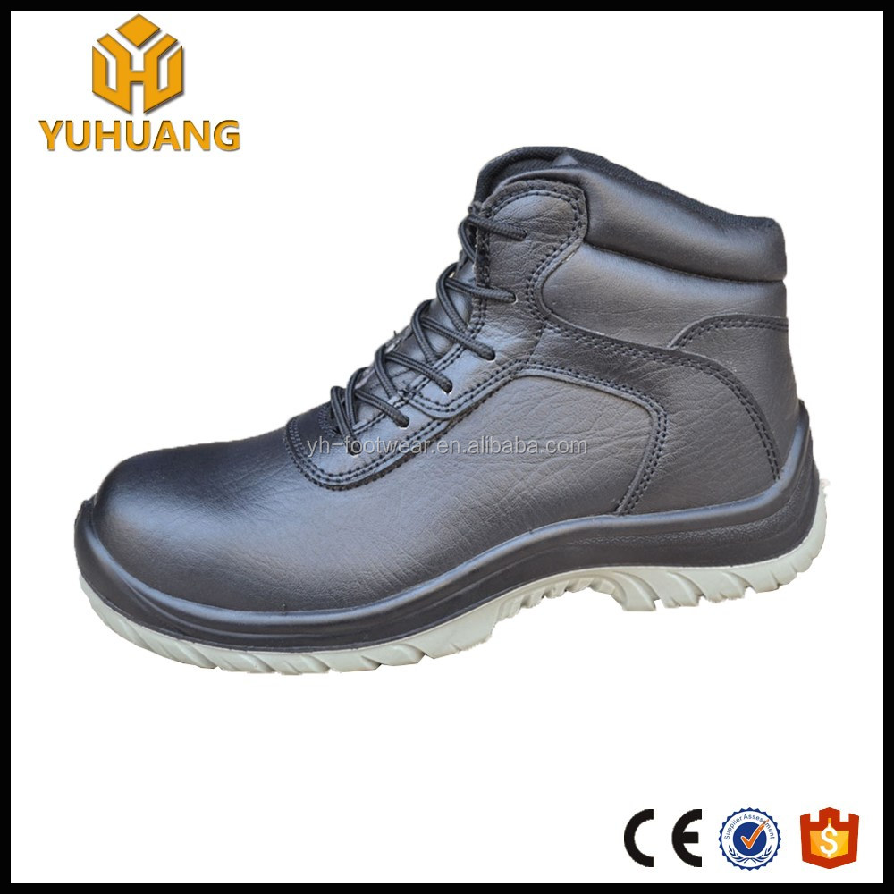 waterproof genuine leather high heel steel toe safety