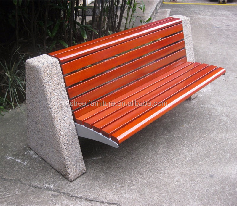 Concrete Garden Bench Cement Stone Seat Elements Without