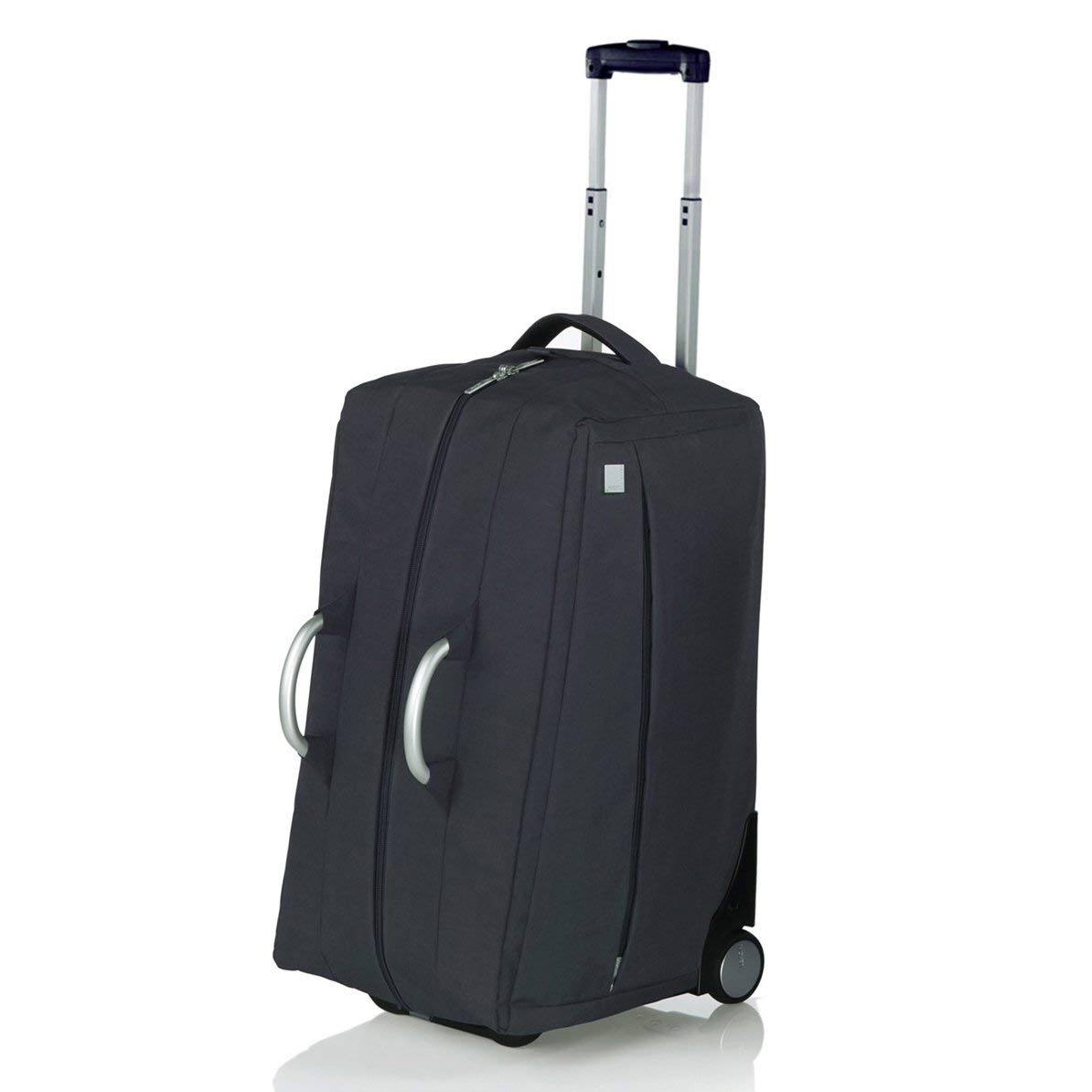 bb3ad9d7afd1 Get Quotations · Lexon Airline Travel Cabin Rolling Duffel Bag in Wool Black
