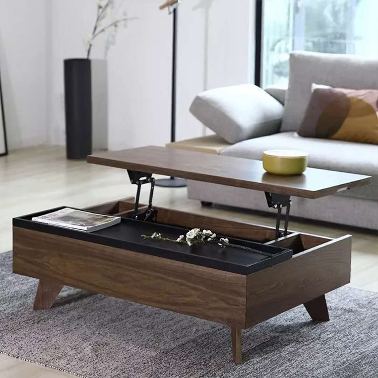 Living Room Multifunctional Center Table Design Wooden Tea Table