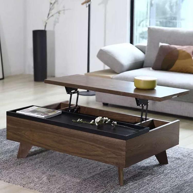 Living Room Multifunctional Center Table Design Wooden Tea Coffee