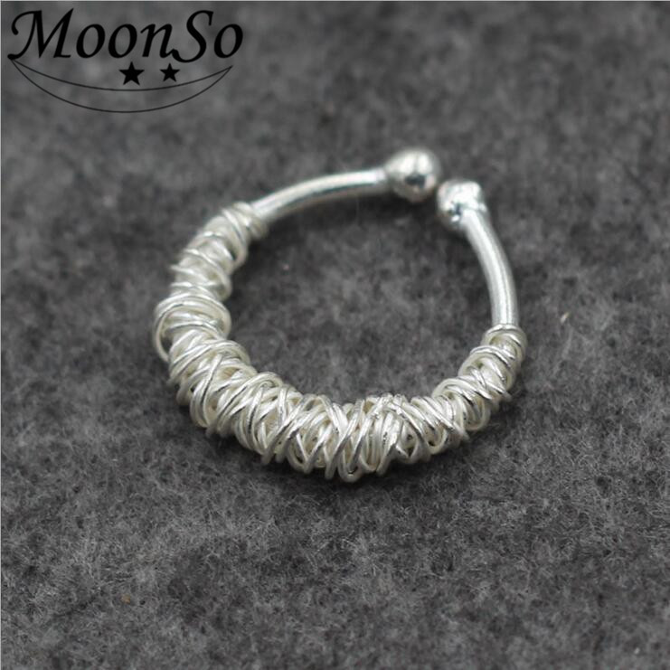 Wholesale S925 Sterling Silver Ring Women's Fashion Jewelry Wire Wrapped Ring Unique Special AR3422S