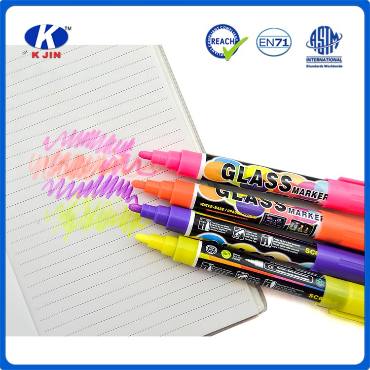 2016 hot sale PP colorful fluorescence marker pen for office