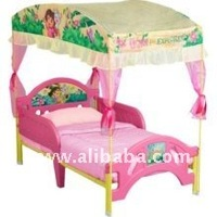 Dora The Explorer Toddler Bed with Canopy, 10th Anniversary Edition