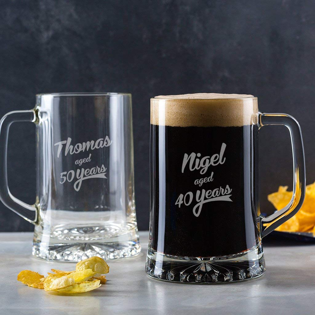 Get Quotations Personalized Beer Tankard Birthday Gifts For Men Unique Him