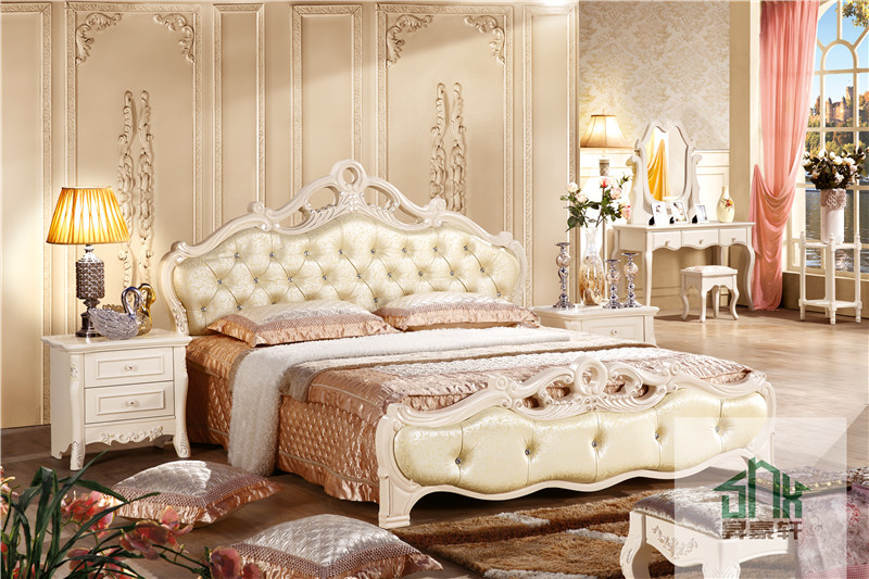 White Bedroom Furniture Sets For Adults Ha-910# Royal Furniture ...