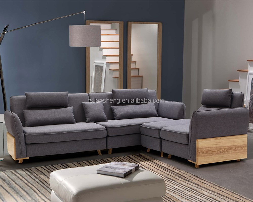 latest sofa design living room sofa with solid wooden l