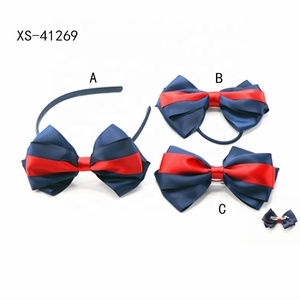 Beauty Hair Accessories Navy Blue Ribbon Boutique Bow Girl Hair Ornaments