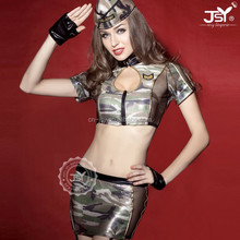Sexy Camouflage Mature Women Military Uniform