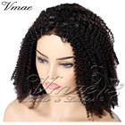 VMAE Baby Natural 130 150 Afro Kinky Curly 4A 4B 4C Frontal Cuticle Aligned Virgin Brazilian Human full Lace Hair Raw Wi