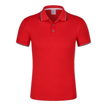 100 cotton t shirts red mens polo shirt