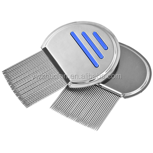 Stainless steel nit lice terminator,metal nit lice comb for pet lice treatment