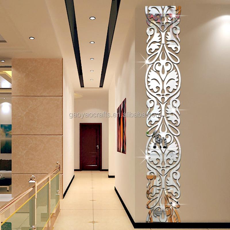 3d floreale decorazione della parete a specchio decorazione della casa per soggiorno camera da - Carta a specchio ...