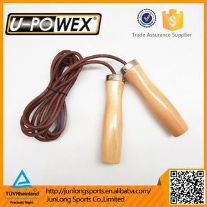 High quality leather speed skipping rope / Leather jump rope