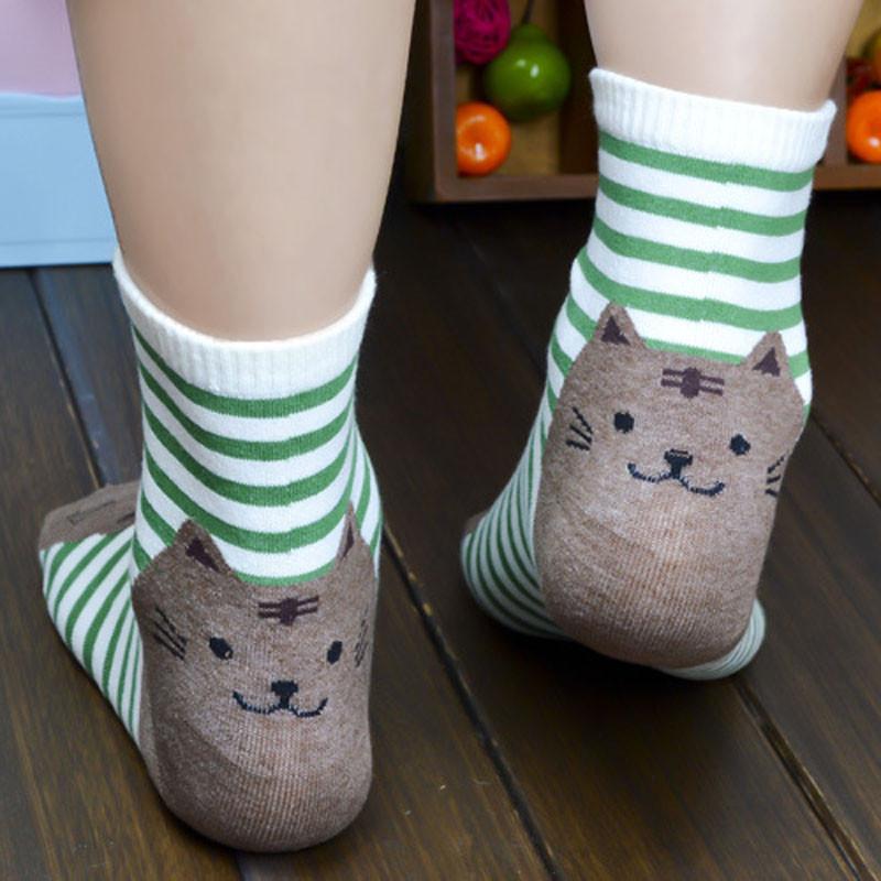 Feitong Brand New Hot Sale Short Socks Women 1pair Winter Warm Smile Knit Leg Warmers Casual Crochet Slouch Boot Socks Novel Design; In