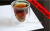 Good Quality Double Wall Skull Glass/Clear Glass Cup