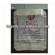 laminated square bottom gusset valve cement packing bags plastic block bottom bags