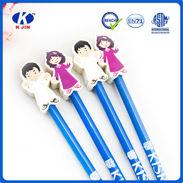 Cheap fashion cute Pencil With Eraser With EN71,FSC Certificates