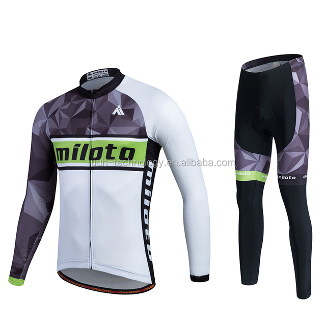 67c8446b9 2016 Custom Bicycle Clothing men long sleeve cycling jersey and short set