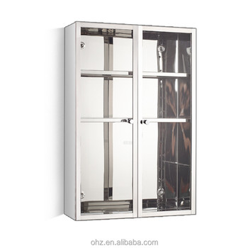 Low Price Stainless Steel Modular Kitchen Cabinet Storage Soft Close Glass  Doors