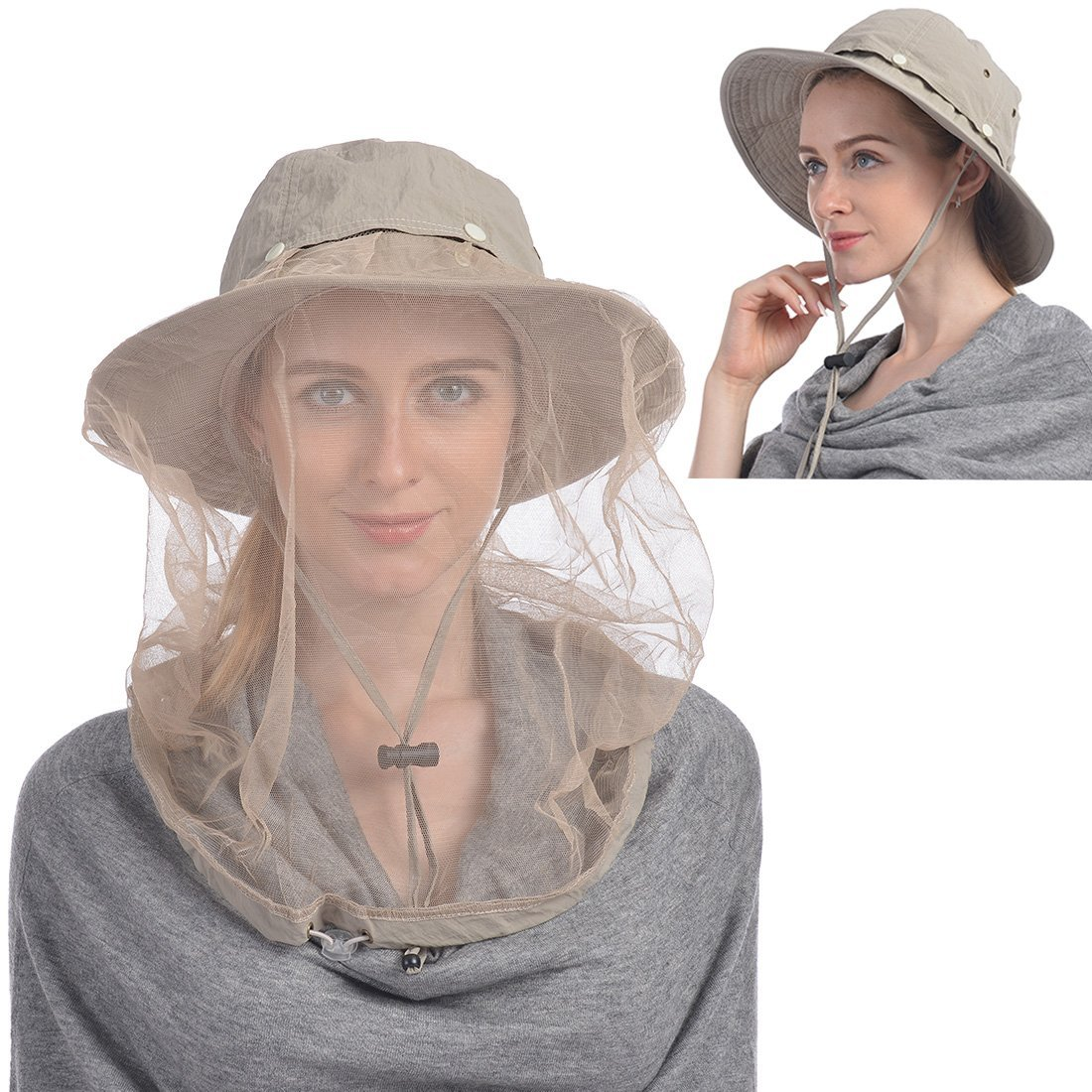 156c6e97ff18f Get Quotations · Mosquito Head Net Hat