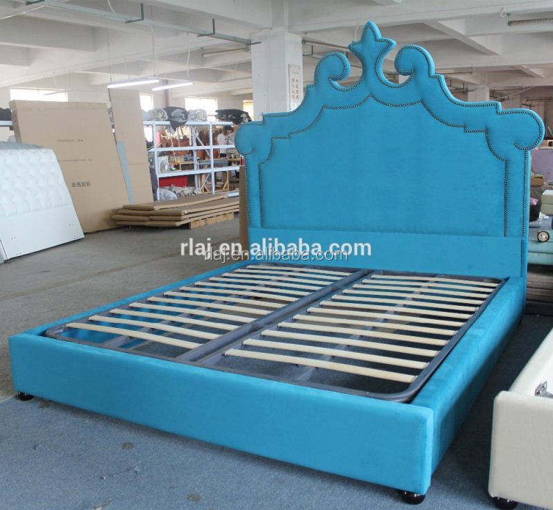 The blue children sleeping bed frame of modern home furniture for double