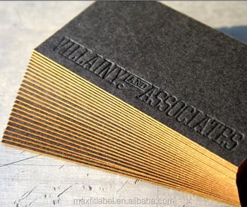 debossed business cards