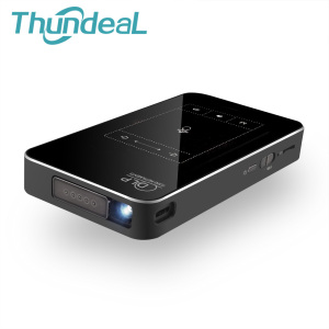 ThundeaL T18 DLP Mini Projector Android 7.1 WiFi 1G RAM 8G 32G ROM 3D Projector T18E Touch Pad Battery 5000mAh Bluetooth HDMI I