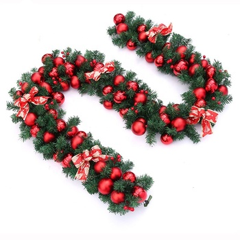 9 Foot Artificial Christmas Garland Prelit with 50 Lights, and Silver Bristle, Pine Cones, Red Berries