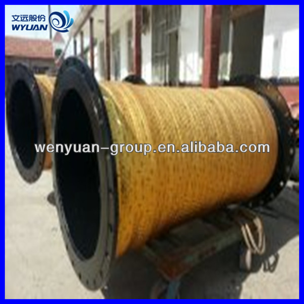 rubber suction with flange dredging hose