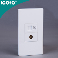 Igoto American Style A305 electrical rj45 date and tv double socket outlet