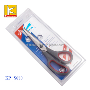 6 inch stainless steel student household children scissor with pp+tpr handle