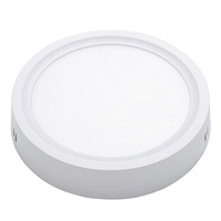 Factory direct office indoor SASO CE aluminum 18 watt smd 2835 surface mounted lamp 18w round led panel light ceiling