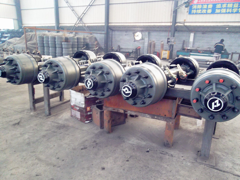 Wagon Wheels And Axle Rear Axle Assembly For Cargo Semi Trailer - Buy Used  Trailer Axles,Used Semi Trailer Axles,Trailer Independent Axles Product on