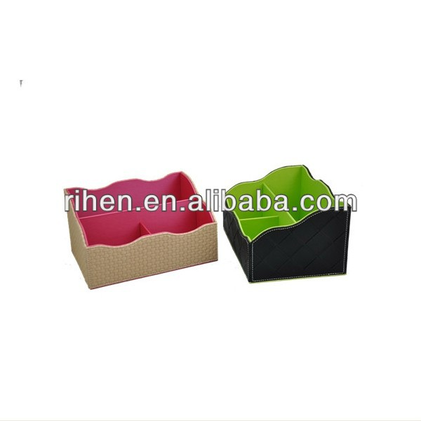 2014 New design pu leather storage box