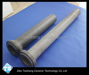 Heat Resistant Silicon Nitride Ceramic Riser Tube For Aluminum Wheels Casting