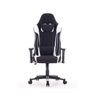 Ergonomic swivel white black leather executive ergonomic racing gaming chair