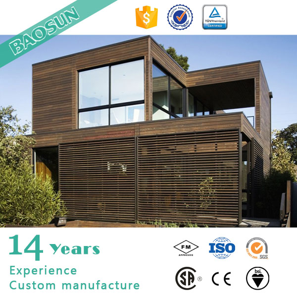 BAOSUN prefabricated good performance modular wooden houses and villas with CE AS UL certificate