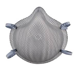 Moldex Medium - Large N95 Dirt Dawgs Disposable Particulate Respirator With Molded Nose Bridge And Dura-Mesh Shell - Meets NIOSH, ANSI And ISEA Standards - 20 EA